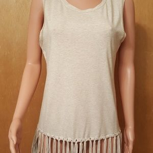 Hem & Thread fringed sleeveless top